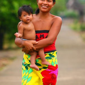 Sambu girl with child